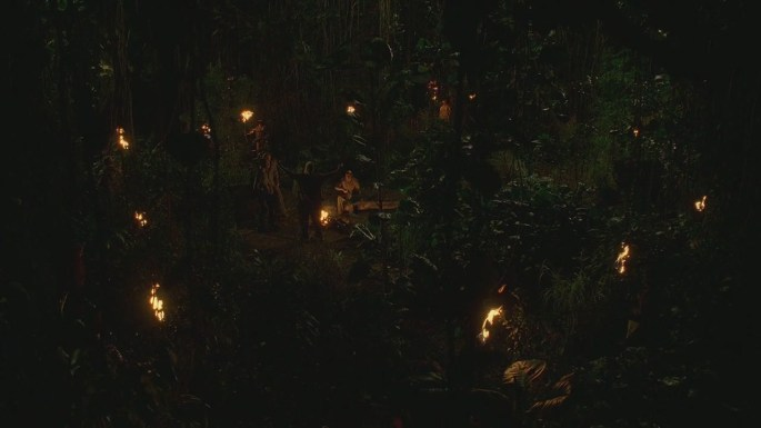 the hunting party lost light them up others fire forest