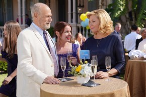 FILTHY RICH: L-R: Gerald McRaney, Aubrey Dollar and Kim Cattrall in FILTHY RICH, premiering midseason on FOX. © 2019 FOX MEDIA LLC. Cr: Alan Markfield / FOX.