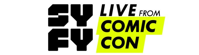 "SYFY LIVE FROM COMIC-CON -- Season: 2 -- Pictured: ""SYFY Live From Comic-Con"" logo -- (Photo by: SYFY)"