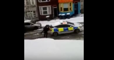 Man Arrested Helps Police Officer Push His Stuck Cruiser Out Of The Icy Snow To Eventually Take His Ass To Jail