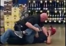 Not One Shot Fired. A Police Officer Wrestles With A Man In A Store And No One Got Shot