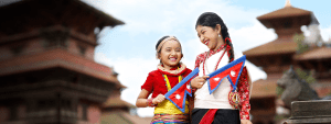 Authentic Nepali with flag
