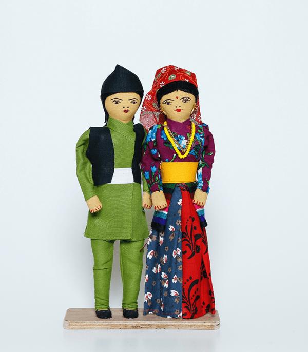 Handmade Nepali dolls, Gurung Culture