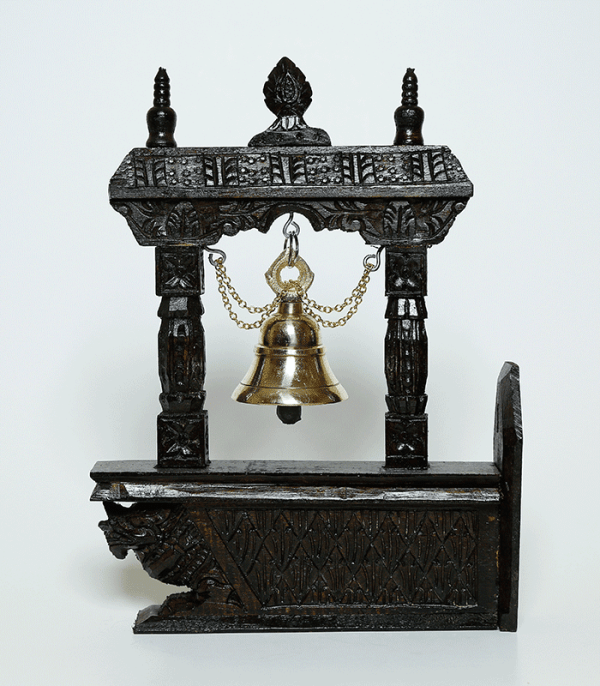 Bell on Wooden Frame Wall Décor