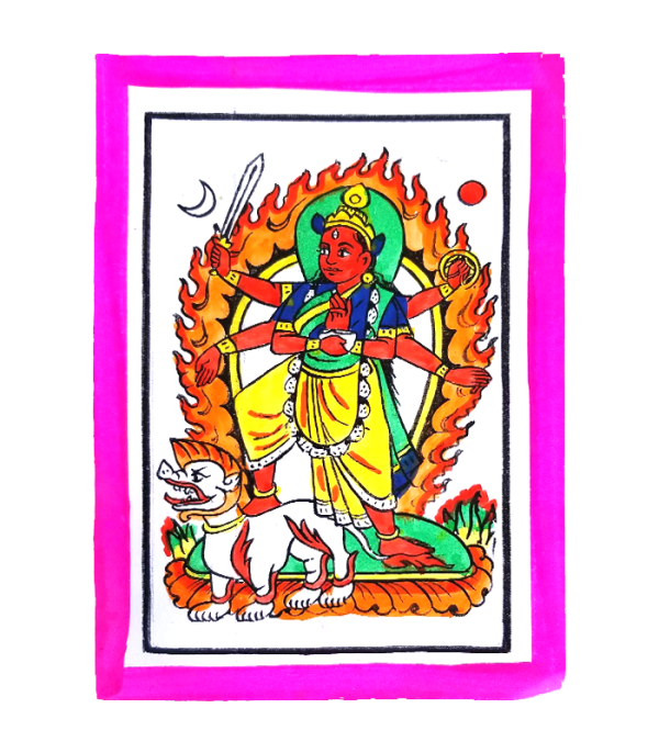Bhagwati Hand Painted Picture - Celeberate Dashain