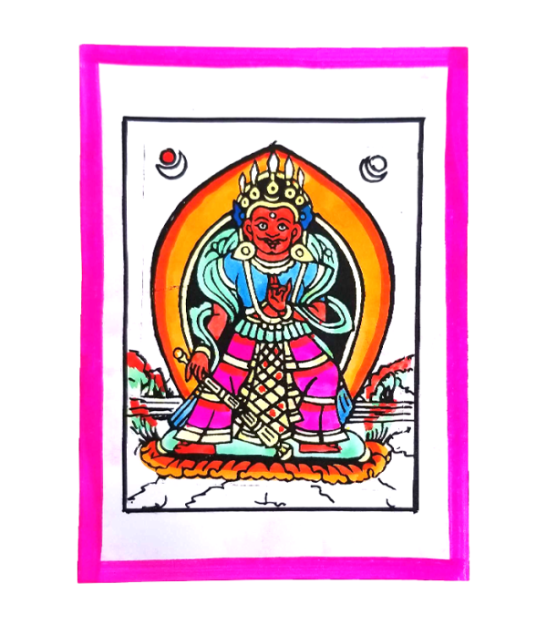 Bhimsen Hand Painted Posters - Arts of Nepal