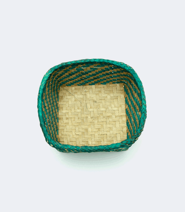 Bamboo Dalo Green - Traditional weaved basket of Nepal