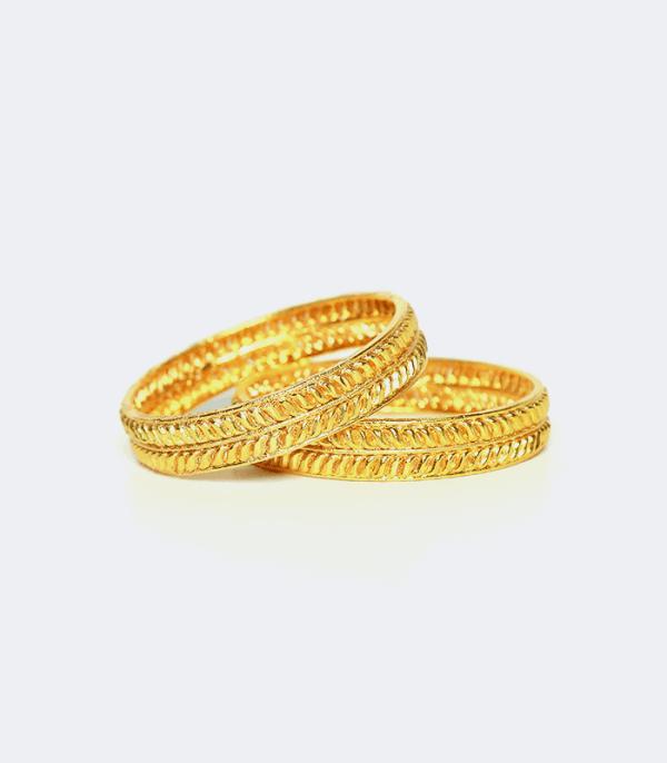 Bangle with leaves design (1 pair) - Celebrate Teej