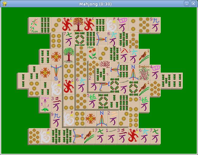 Mahjong layout