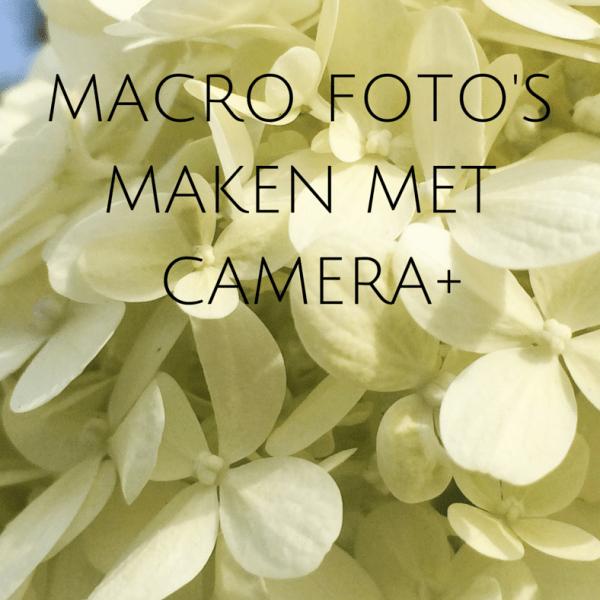 macro foto's maken met camera+ app