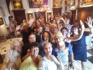 workshop met 52 dames van de NVD in Muiderslot