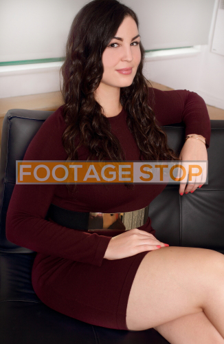 Plus-size-model-woman-authentic-stock-photo