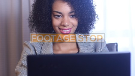 african-american-business-woman-stock-video-footage
