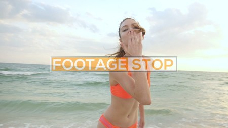 bikini-girl-fitness-lifestyle-beach-stock-video-footage