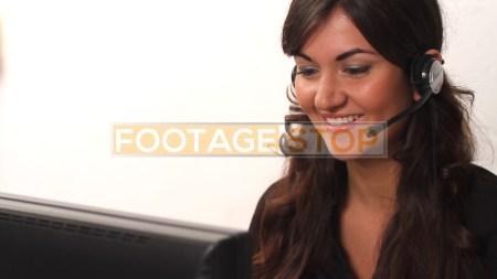 customer-service-woman-latina-stock-video