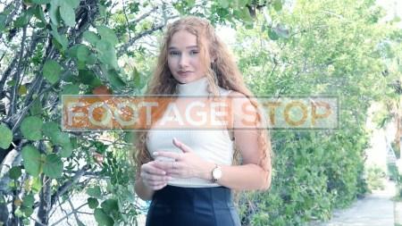 redhead-pantyhose-gen-z-girl-stock-video-2