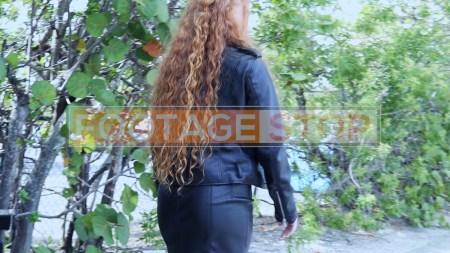 redhead-pantyhose-gen-z-girl-stock-video-6