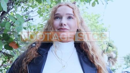 redhead-pantyhose-gen-z-girl-stock-video-7