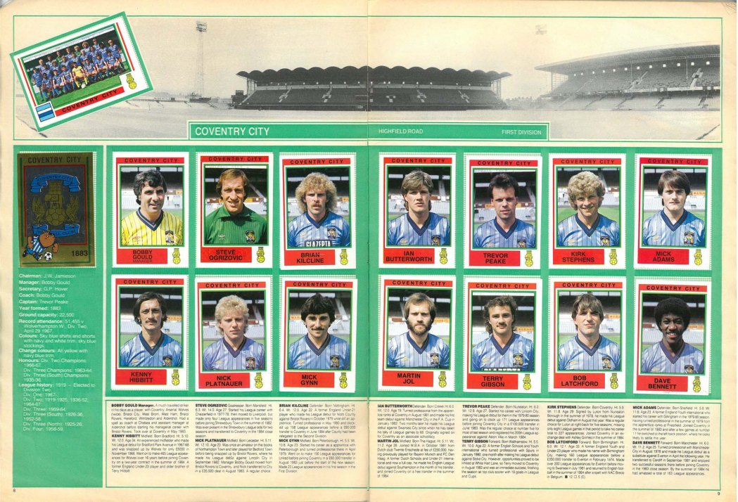 Coventry City 1985