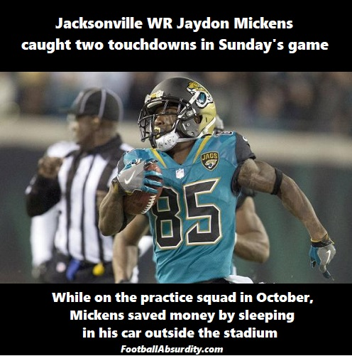 Mikkens facts about the NFL