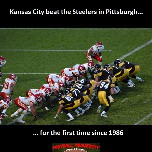 Fact about Chiefs Steelers