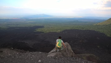 Looking out from atop Cerro Negro