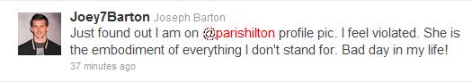 Joey Barton on Paris Hilton