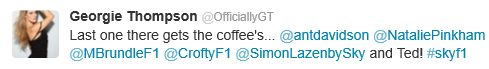 Sky Sports News presenter Georgie Thompson