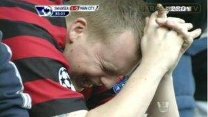Manchester City fan cries