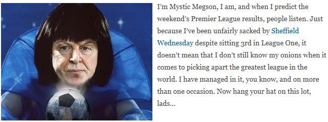 Mystic Megson predicts: Manchester City v Bolton Wanderers