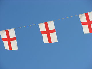 Bunting out for England in Euro 2012