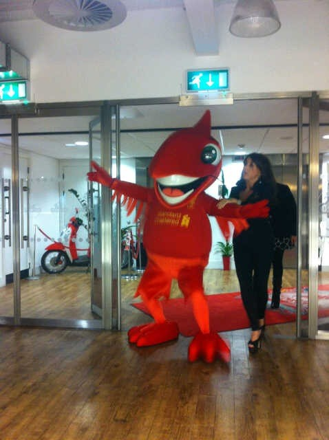 Mighty Red, the new Liverpool Liver Bird mascot