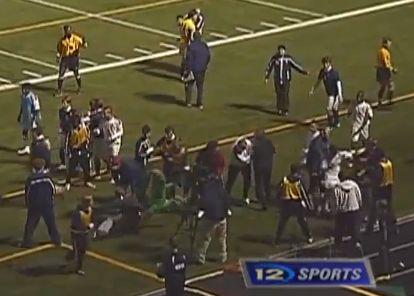 A huge brawl during a Minnesota high school match between Totino Grace and Prairie Seeds