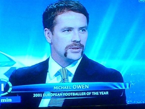 Michael Owen's Movember moustache