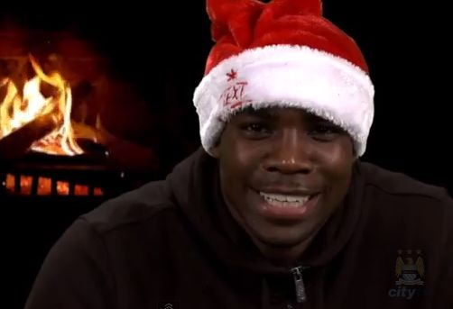 Micah Richards in Richards Reflects for Manchester City's advent calendar (3rd December 2012)