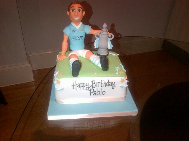 Pablo Zabaleta's birthday cake for 2012