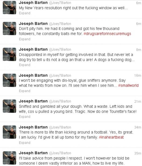 Joey Barton timeline