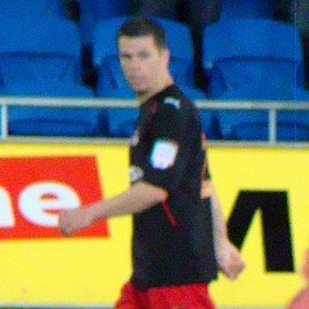 Ian Harte, who fell over during Reading v Aston Villa
