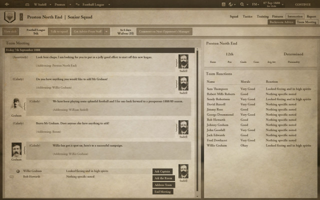Football Manager 1888 screenshot 4, Football Manager April Fools' Day