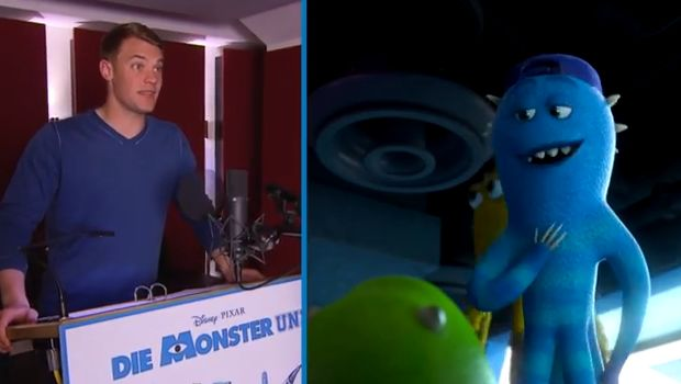 Manuel Neuer in Monsters University as voice of Frank McCay