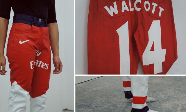 The Walcott branded Arsenal jeans