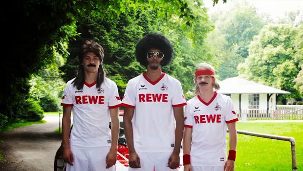 The new 1. FC Köln kits in club advert