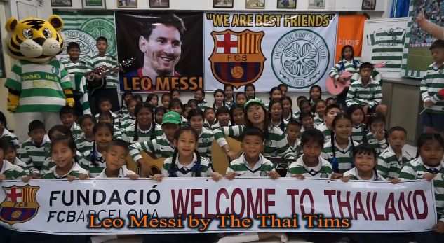 The Thai Tims sing about Lionel Messi