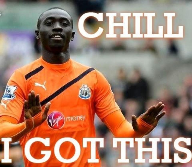 A Newcastle United kit Cissé might prefer, after hearing the best Papiss Cissé Wonga jokes
