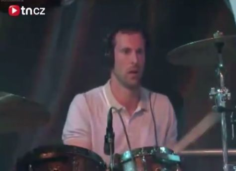 Petr Čech plays drums for Eddie Stoilow during Nirvana - Smells Like Teen Spirit at Rock for People