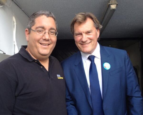 Glenn Hoddle meets Ian Abrahams