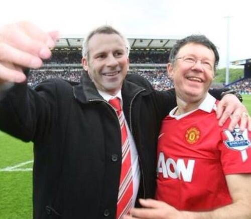 Ryan Giggs and Alex Ferguson Football Face Swap