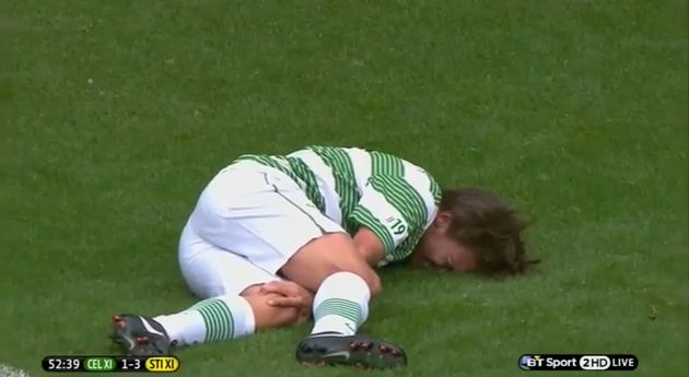 Gabriel Agbonlahor injures One Direction's Louis Tomlinson in Stiliyan Petrov charity match