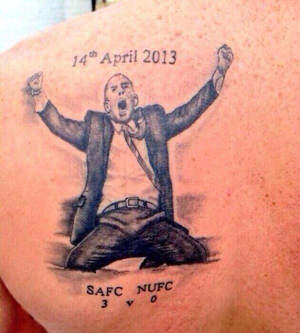 The infamous Sunderland 3 Newcastle 0 tattoo, 1 of the best Di Canio sacked jokes