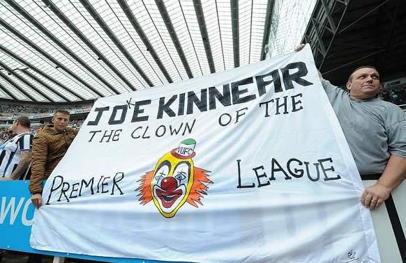 The clown of the premier league flag, one of the best Joe Kinnear jokes after transfer deadline day